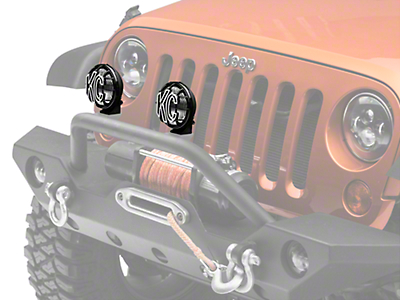 KC HiLiTES 5 in. Apollo Pro Halogen Lights - Fog Beam - Pair (87-17 Wrangler YJ, TJ & JK)