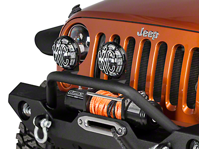 KC HiLiTES 6 in. Apollo Pro Halogen Lights - Driving Beam - Pair (87-18 Wrangler YJ, TJ, JK & JL)
