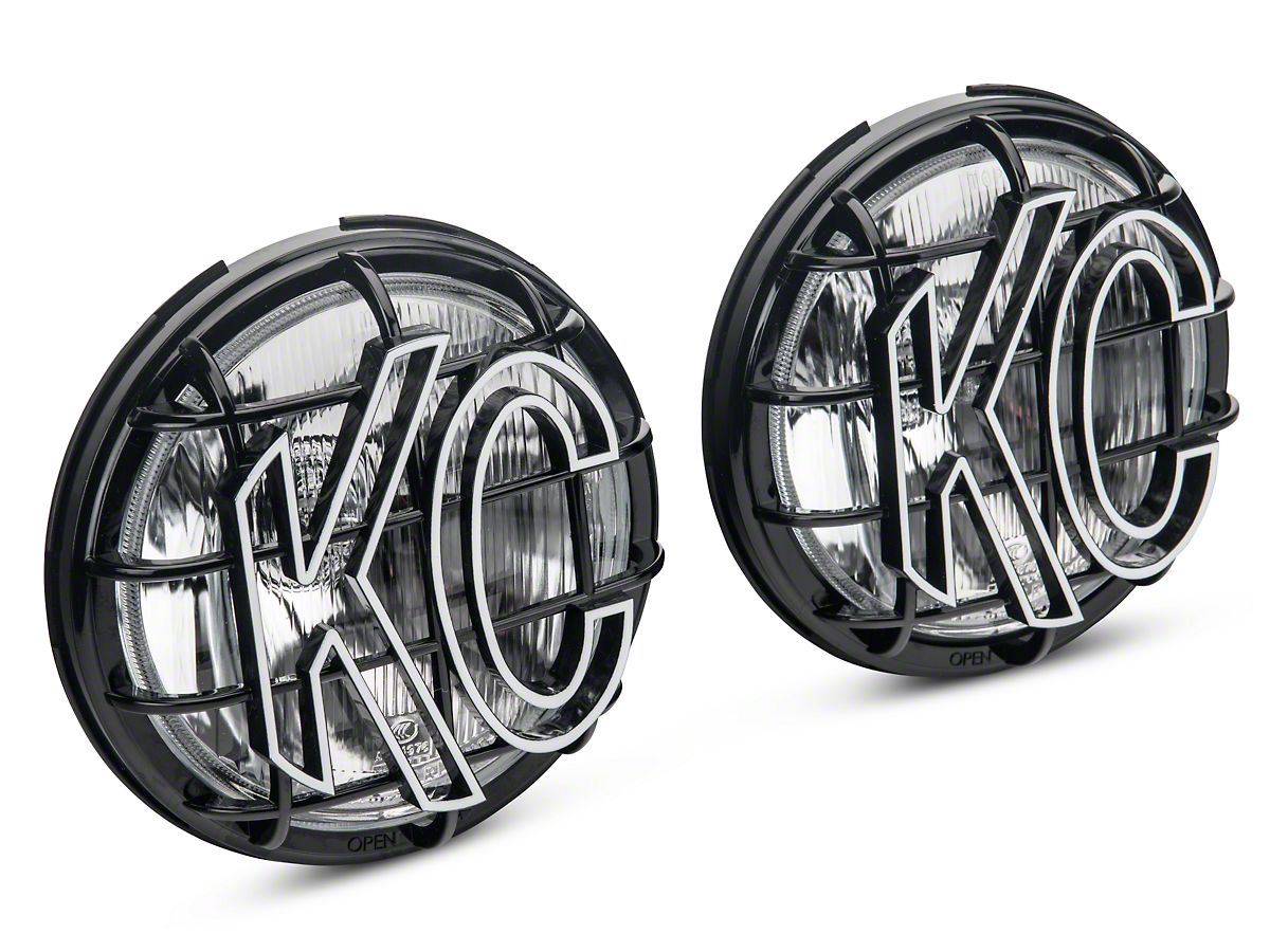 KC HiLiTES 6 in. Apollo Pro Halogen Lights - Driving Beam - Pair on