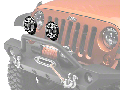 KC HiLiTES 6 in. Apollo Pro Halogen Light - Fog Beam - Pair (87-17 Wrangler YJ, TJ & JK)
