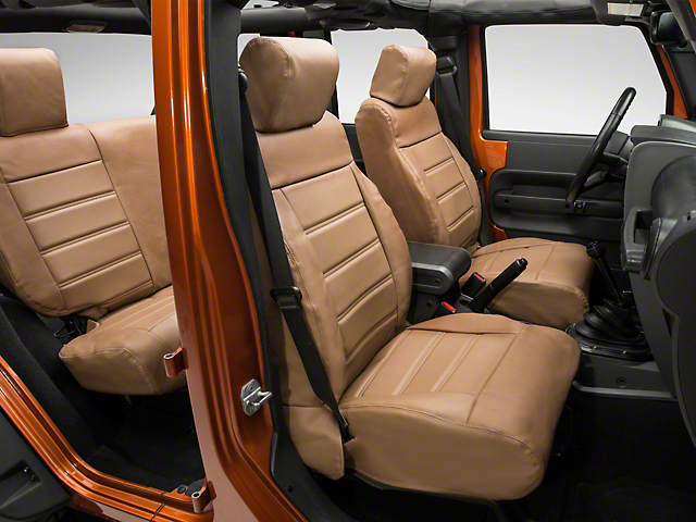 Alterum Leatherette Seat Covers - Saddle (2007 Jeep Wrangler JK 4 Door)