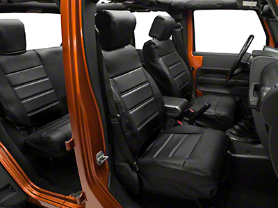 Alterum Leatherette Seat Covers - Black (08-10 Wrangler JK 4 Door)