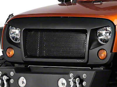 Rugged Ridge Spartan Grille - Satin Black (07-18 Jeep Wrangler JK)