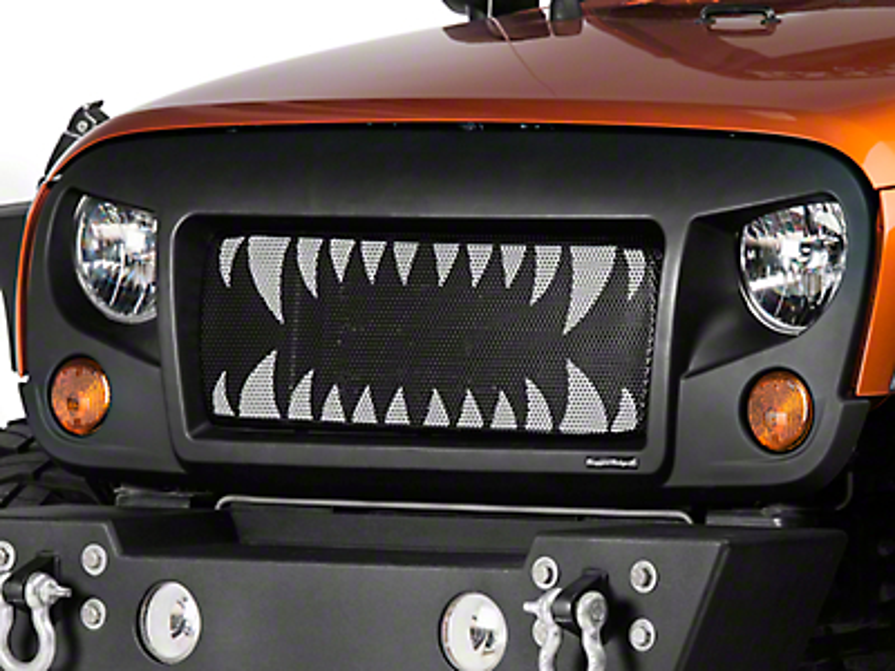 Rugged Ridge Spartan Grille Insert - Land Shark (07-18 Jeep Wrangler JK)