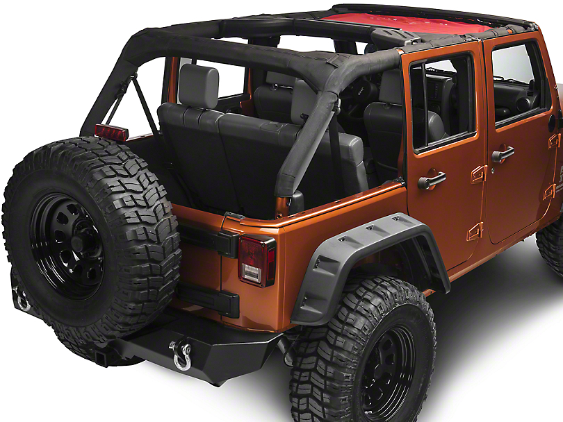 Rugged Ridge Eclipse Sun Shade - Red (07-18 Jeep Wrangler JK)