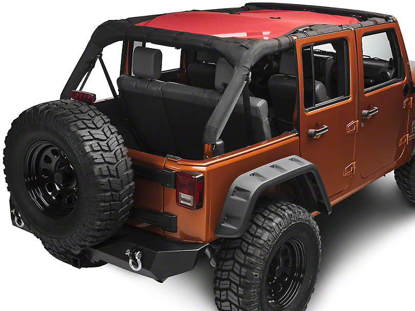 Rugged Ridge Eclipse Sun Shade - Red (07-18 Jeep Wrangler JK 4 Door)