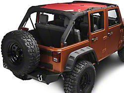 Rugged Ridge Full-Length Eclipse Sun Shade; Red (07-18 Jeep Wrangler JK 4 Door)