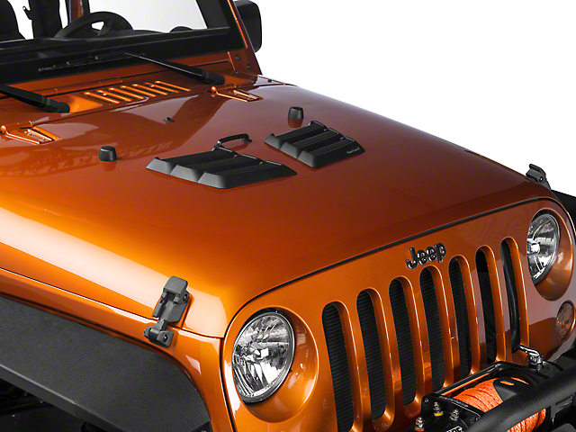 Rugged Ridge Jeep Wrangler Performance Hood Vents Black