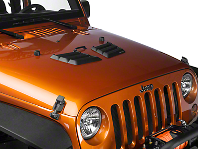 Rugged Ridge Performance Hood Vents - Black (97-18 Wrangler TJ & JK)