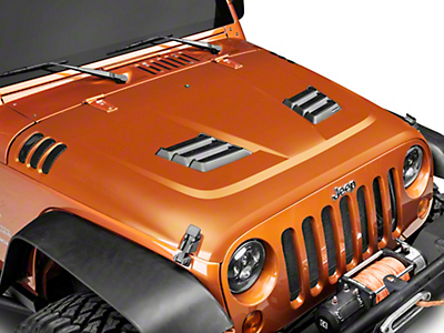 Rugged Ridge Performance Vented Hood Kit - Unpainted (07-18 Wrangler JK)