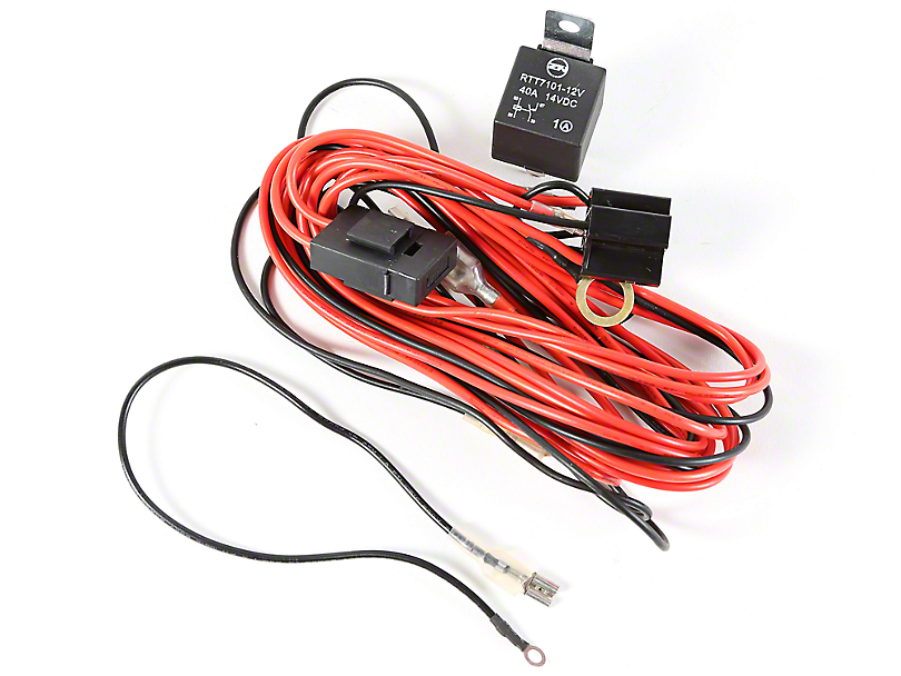 J103723?$enlarged810x608$ rugged ridge wrangler wiring harness for 2 hid offroad fog lights Headlight Wiring Harness Replacement at fashall.co