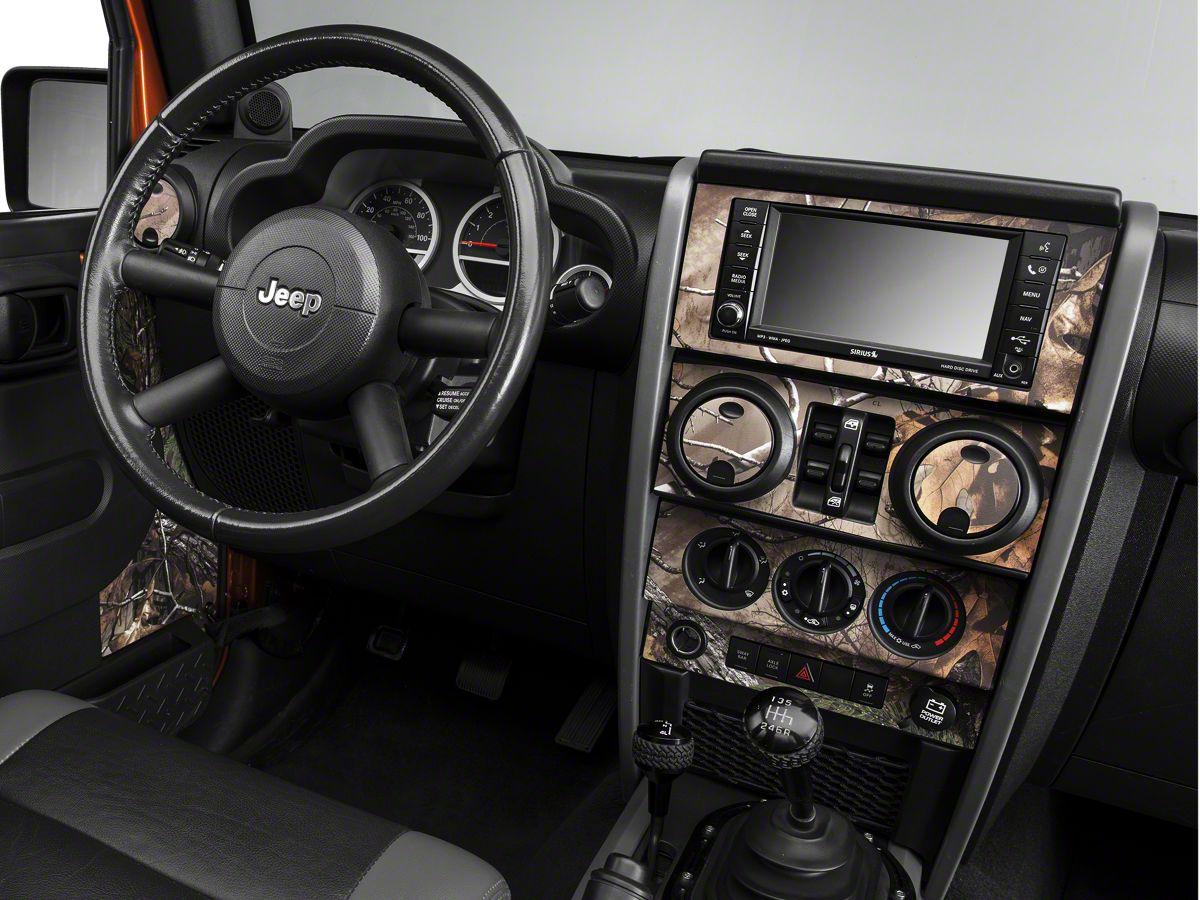 Jeep Wrangler Interior >> Real Tree Camo Dash Kit W Interior Door Camo 07 10 Jeep Wrangler Jk 4 Door