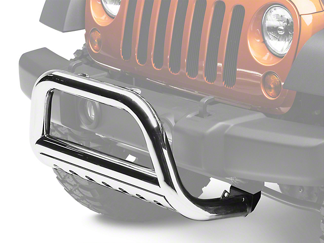 Rugged Ridge 3-Inch Bull Bar; Stainless Steel (07-09 Jeep Wrangler JK)