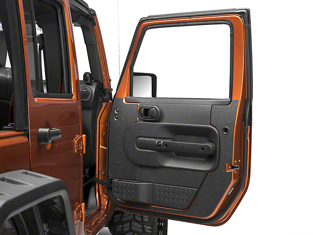 RedRock 4x4 Black Interior Door Shield (07-10 Wrangler JK 4 Door)