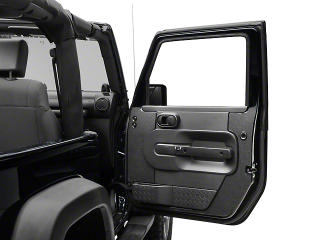 RedRock 4x4 Black Interior Door Body Shield (07-10 Wrangler JK 2 Door)