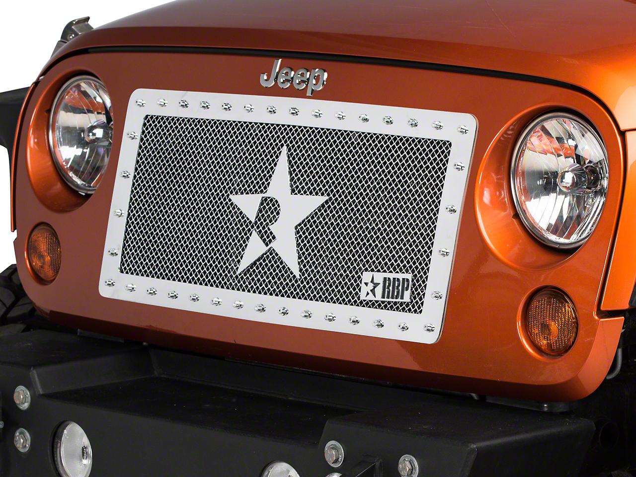 RBP RX-Series Studded Grille - Chrome (07-17 Wrangler JK)