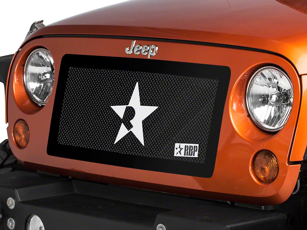 RBP RL Series Smooth Frame Grille - Black (07-18 Jeep Wrangler JK)