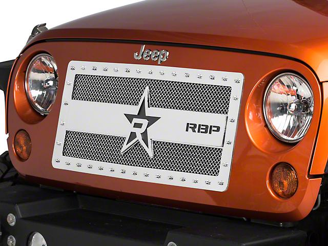 RBP RX-3 Series Studded Frame Grille; Chrome (07-18 Jeep Wrangler JK)