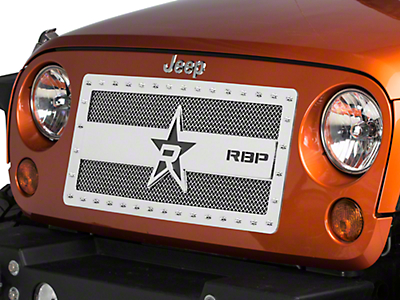 RBP RX-3 Series Studded Grille - Chrome (07-18 Wrangler JK)