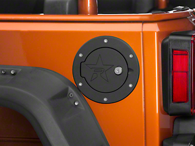RBP RX2 Locking Fuel Door - Black (07-18 Jeep Wrangler JK)