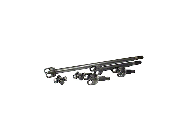 Yukon Gear 4340 Chrome-Moly Replacement Front Axle Kit w/ SuperJoints - Dana 30 (07-18 Wrangler JK)
