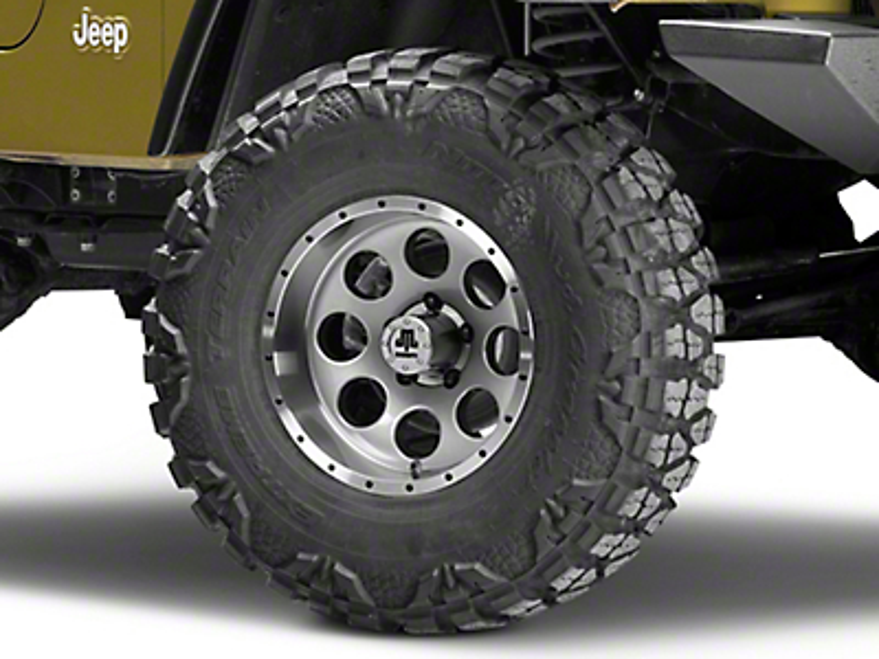 Mammoth 8 Beadlock Style Anthracite Wheel - 15x8 (87-06 Wrangler YJ & TJ)