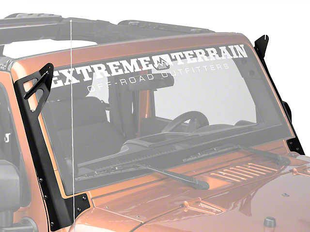Rigid Industries 50 in. E-Series or SR-Series LED Light Bar Windshield Mount (07-18 Jeep Wrangler JK)
