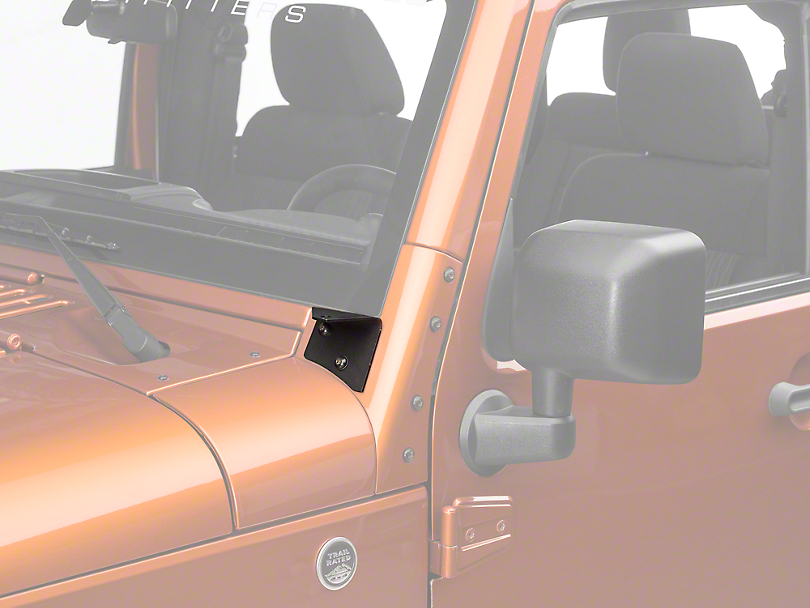 Rigid Industries A-Pillar Light Mount Kit (07-18 Wrangler JK)