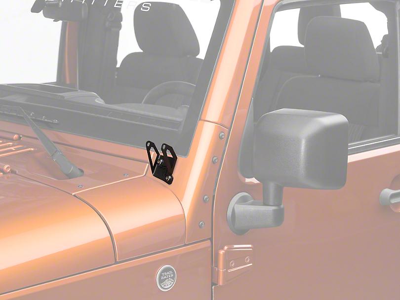 Rigid Industries D-Series A-Pillar Light Mounting Brackets (07-18 Jeep Wrangler JK)