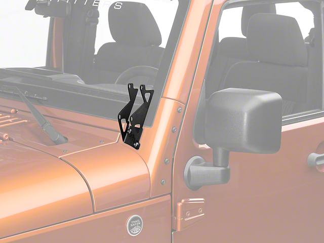 Rigid Industries Dual D-Series A-Pillar Light Mount Kit (07-18 Wrangler JK)