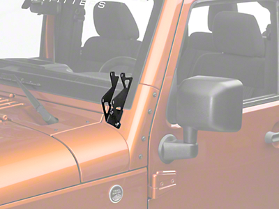Rigid Industries Dual D-Series A-Pillar Light Mount Kit (07-18 Wrangler JK)