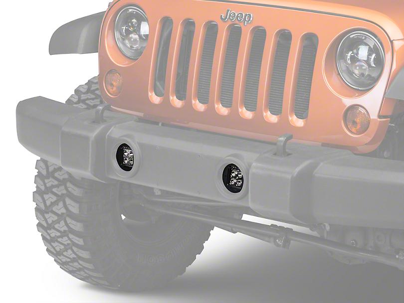 Rigid Industries D-Series Bumper Fog Light Mount (07-18 Jeep Wrangler JK)