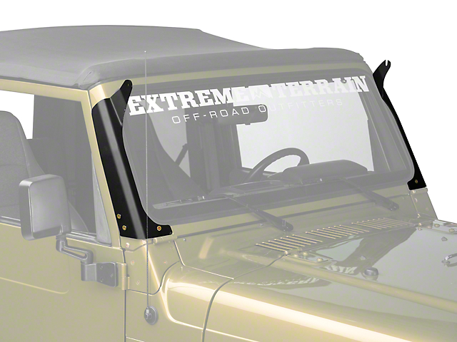 Rigid Industries 50 in. E-Series or SR-Series LED Light Bar Windshield Mount (97-06 Wrangler TJ)