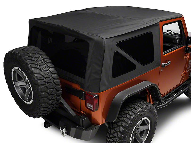 Rugged Ridge Replacement Soft Top w/ Tinted Windows - Black Diamond (10-18 Jeep Wrangler JK 2 Door)