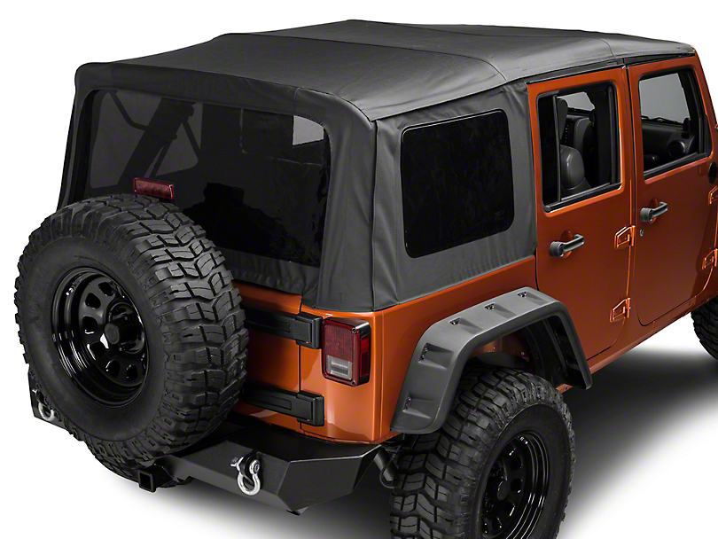 Rugged Ridge Replacement Soft Top w/ Tinted Windows - Black Diamond (10-18 Jeep Wrangler JK 4 Door)