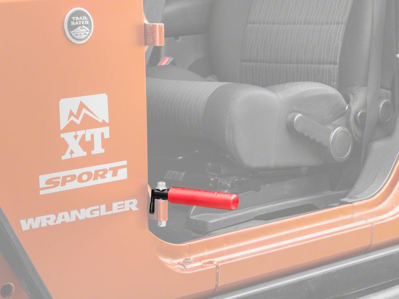 GraBars BootBars Foot Pegs - Red (07-19 Jeep Wrangler JK & JL)