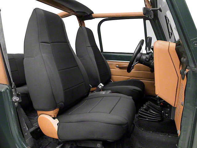 Smittybilt Neoprene Front and Rear Seat Covers; Black (87-95 Jeep Wrangler YJ)
