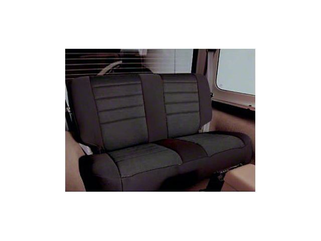 Smittybilt Neoprene Front and Rear Seat Covers; Black (97-06 Jeep Wrangler TJ)