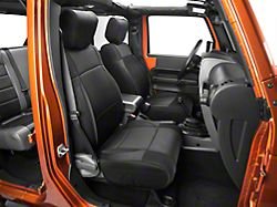 Smittybilt Neoprene Front and Rear Seat Covers; Black (08-12 Jeep Wrangler JK 4 Door)