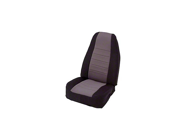 Smittybilt Neoprene Seat Cover Set Front/Rear - Charcoal (87-95 Jeep Wrangler YJ)