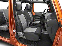 Smittybilt Neoprene Front and Rear Seat Covers; Black/Charcoal (07-12 Jeep Wrangler JK 2 Door)