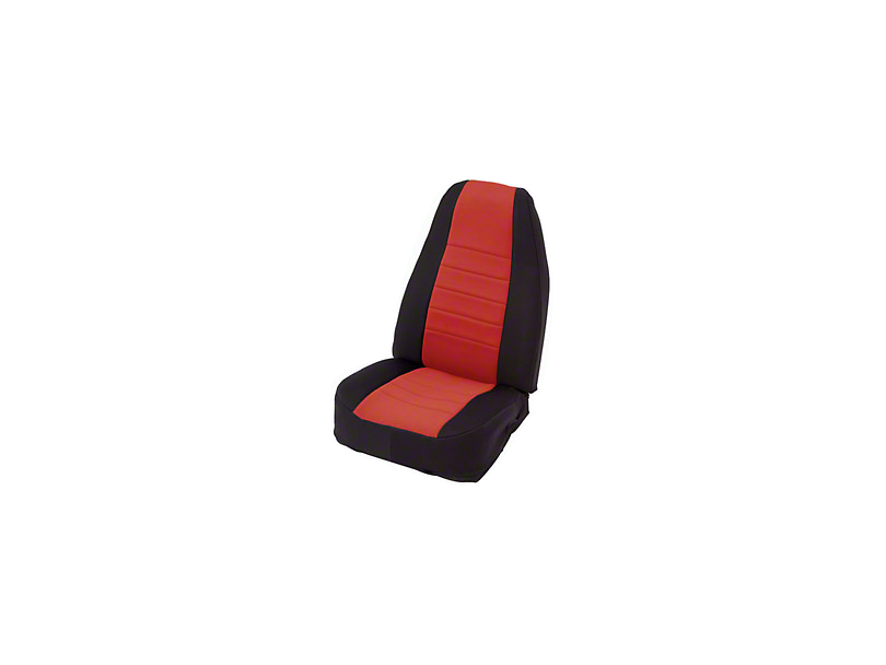 Smittybilt Neoprene Seat Cover Set Front/Rear - Red (87-95 Jeep Wrangler YJ)