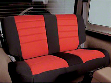 Smittybilt Neoprene Seat Cover Set Front/Rear - Red (97-06 Wrangler TJ)