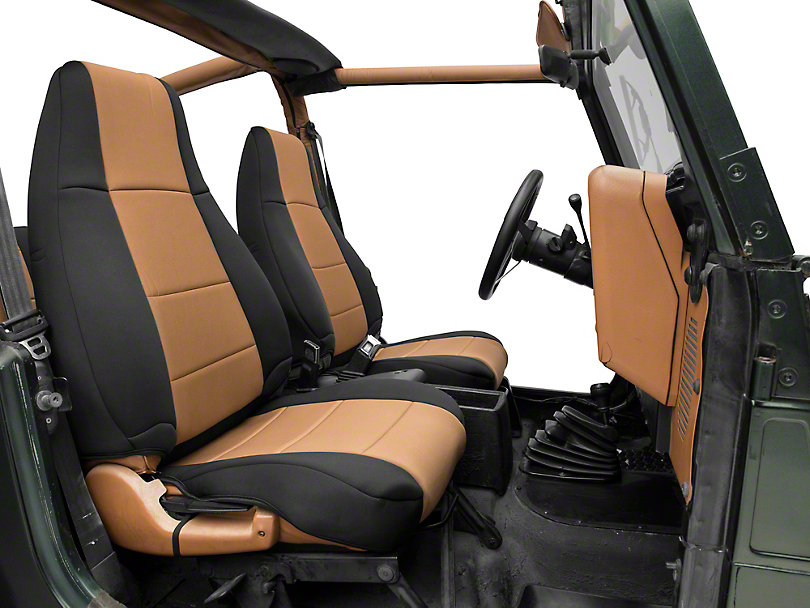 Smittybilt Neoprene Seat Cover Set Front/Rear - Tan (87-95 Jeep Wrangler YJ)