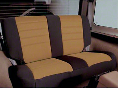 Smittybilt Neoprene Seat Cover Set Front/Rear - Tan (97-06 Wrangler TJ)