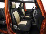 Smittybilt Neoprene Front & Rear Seat Covers - Tan (07-18 Jeep Wrangler JK)
