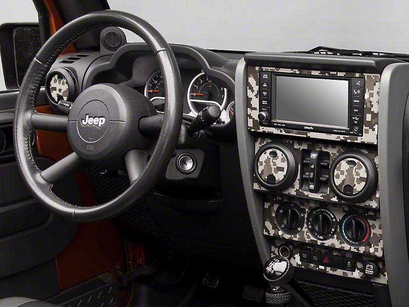 Digital Gray Camo Dash Kit (07-10 Jeep Wrangler JK)
