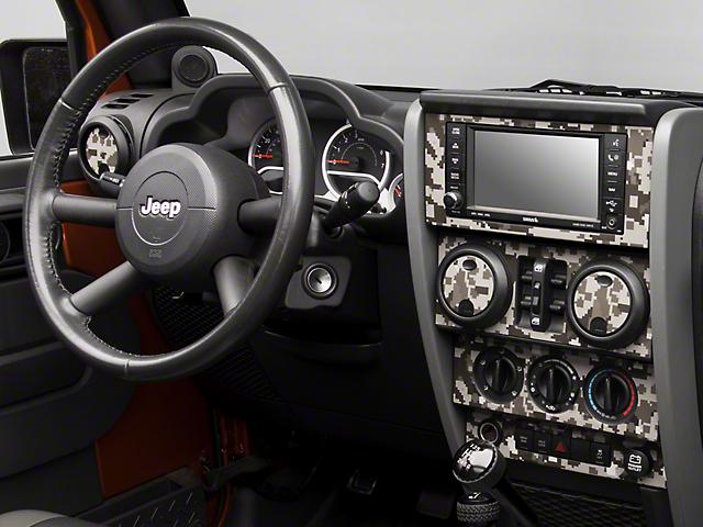 SEC10 Dash Overlay Kit; Digital Gray Camo (07-10 Jeep Wrangler JK)