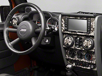 Digital Gray Camo Dash Kit (07-10 Jeep Wrangler JK)