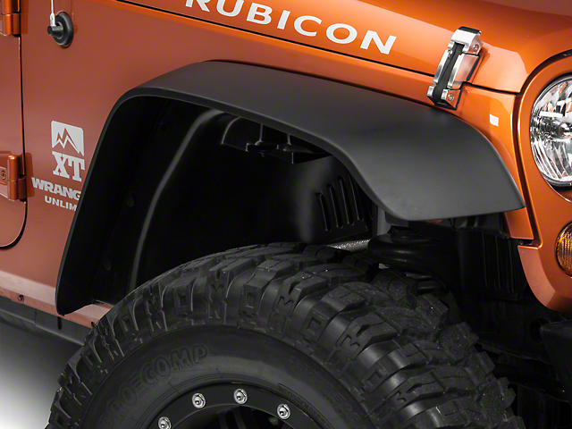 RedRock 4x4 Flat Fender Flares (07-18 Jeep Wrangler JK)